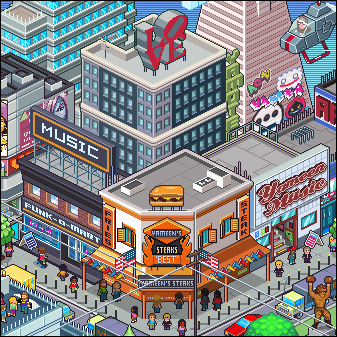 Sifters in the Land of Fun - Pixel Art GAme